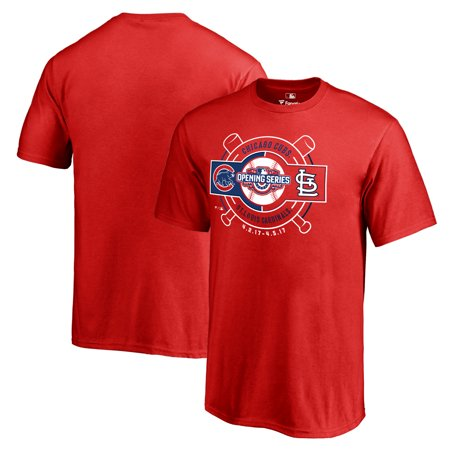 St. Louis Cardinals vs. Chicago Cubs Fanatics Branded Youth 2017 Opening Series T-Shirt - Red