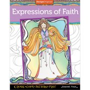 Design Originals Expressions Of Faith Adult Coloring Book