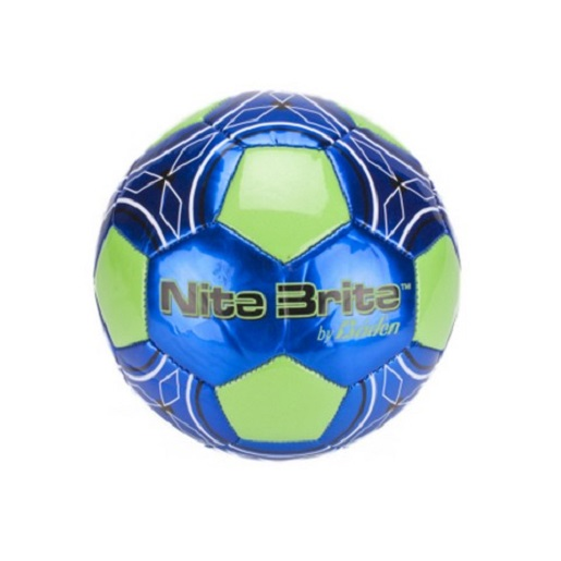 Baden Sports S140G-105 Nite Brite Soccer Ball Glow In The Dark Lime/Blue Sz 4