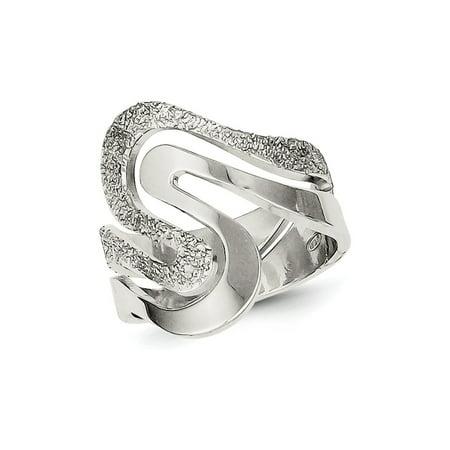 Ladies Textured Swirl Ring in Sterling Silver Swirl Ladies Ring