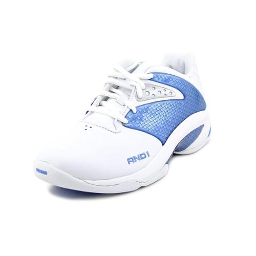 and1 legit low youth boys size 6 white leather tennis