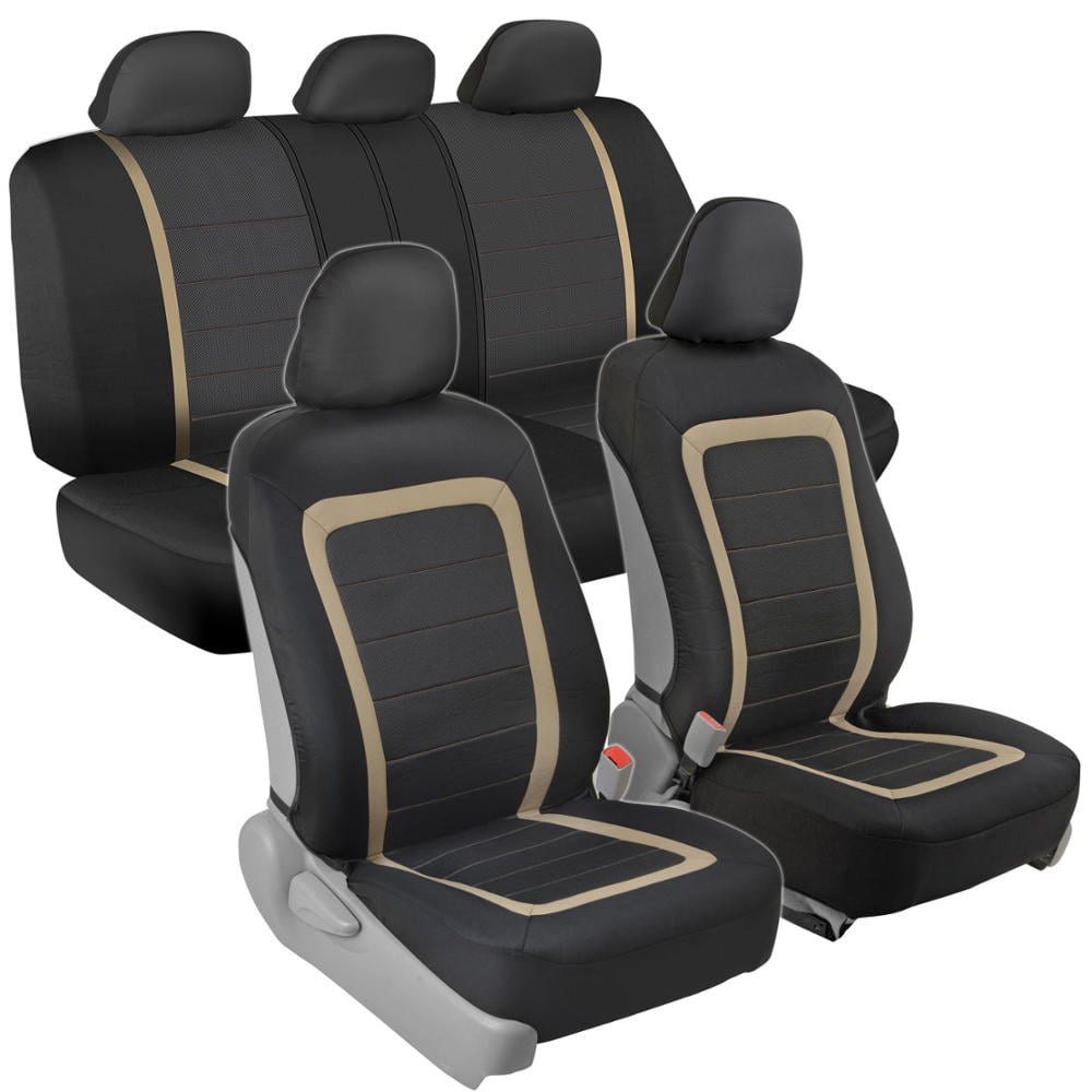 Black Mesh Full Set Front /& Rear Car Seat Covers for Honda Civic Estate All