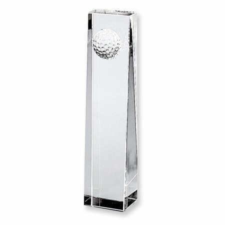 Large Optic Glass Golf Ball Obelisk Inspirational Trophy Award Gifts For Women For - Golf Trophies And Awards