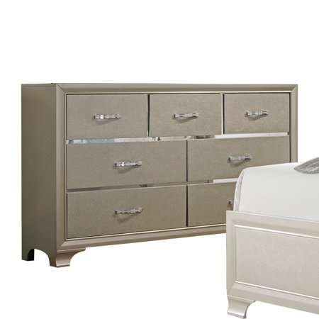Acme Furniture Carine Champagne Dresser with Seven Drawers ()