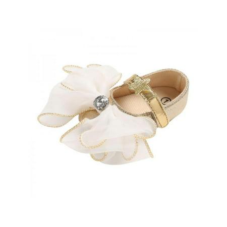 Nicesee Newborn Girl Soft Sole Flower Crib Shoes Anti-slip Princess - Flower Girl Slip