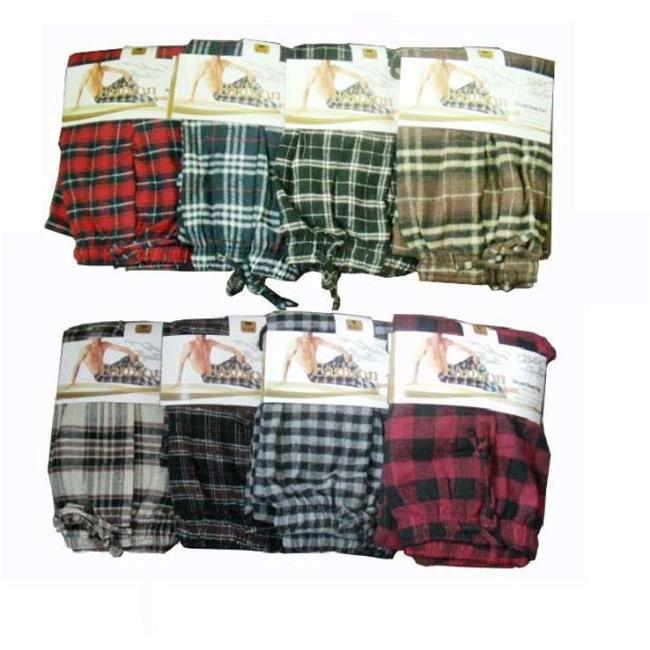 Bulk Buys Mens Sleep Pants, Cotton-Flannel-Medium - Case of 12