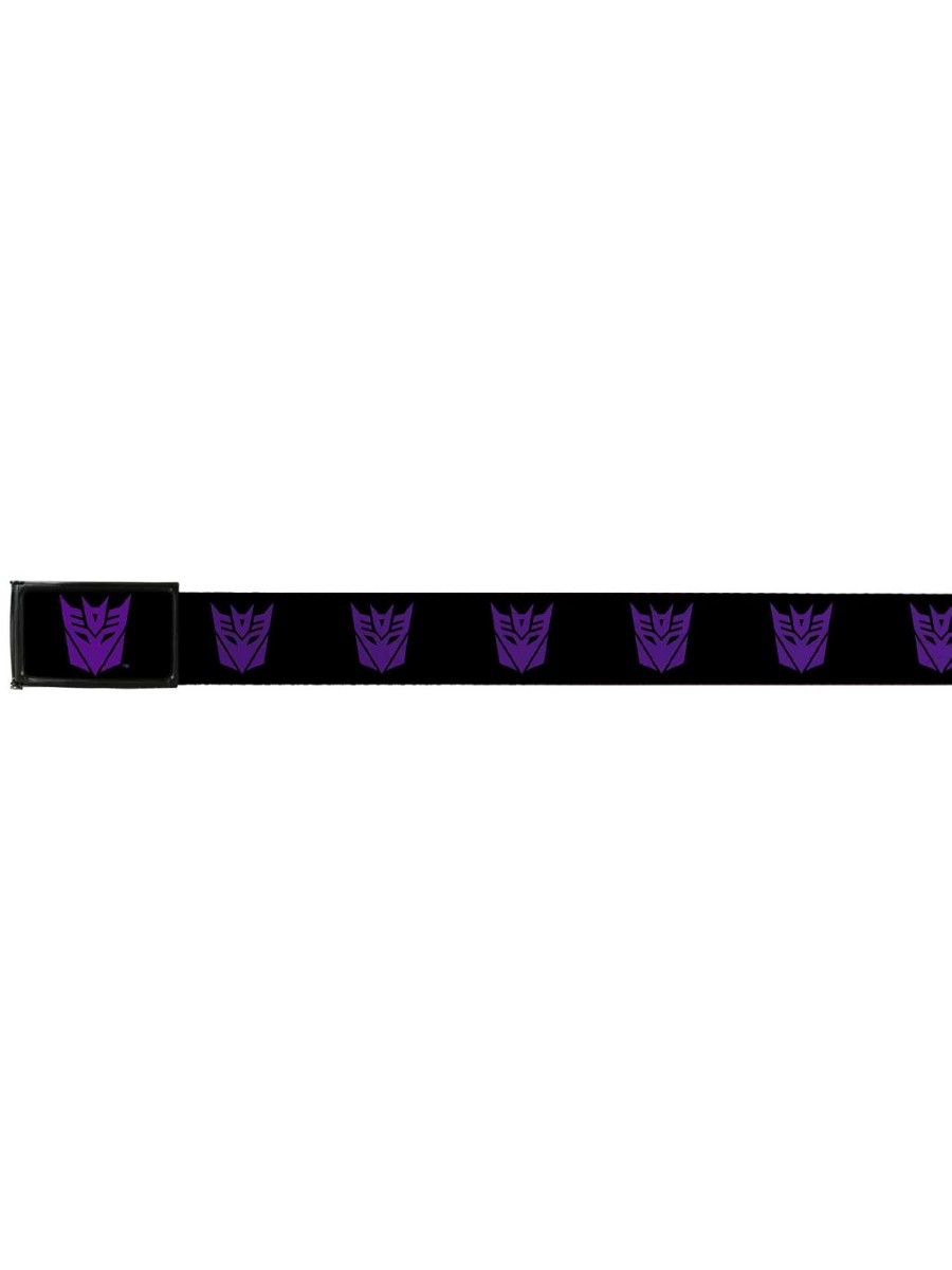 Transformers Animated TV Series Purple Decepticon Logo Repeating Logo Web Belt