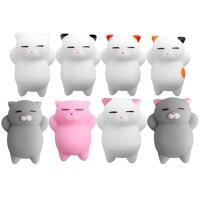 Squishies Slow Rising Cat Animals Set Kawaii Cream Scented Stress Relief Squishy Toy for Kids Adults 8 Pcs