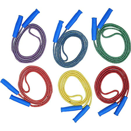 Champion Diamond Braided 8 Jump Rope  Assorted Color  Pack Of 6