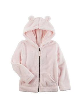 Carters Little Girls Sherpa Hoodie Pink