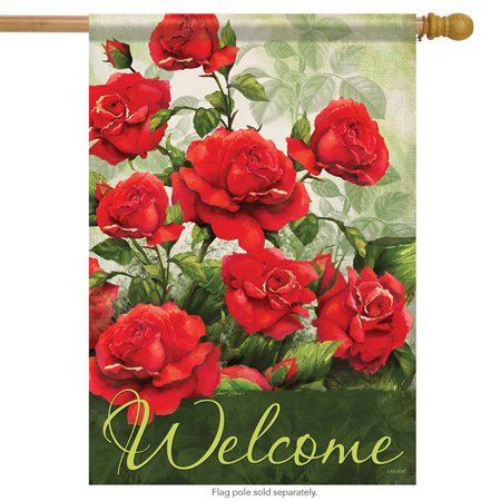 - Rose Welcome Spring Welcome House Flag Decorative Everyday Flower 28