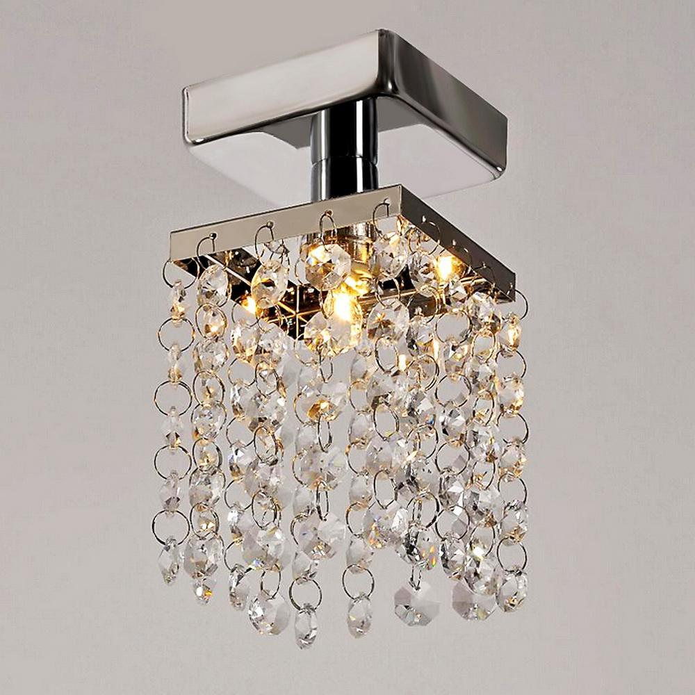 Stainless Steel Pendant  Ceiling Light  Mini Crystal Chandelier for Home Living Room lighting