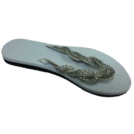 Envision Studio Women Summer Flip Flops Braided Thong Sandals W (Best Sandals For Achilles Tendonitis)