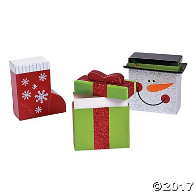 Mini Christmas Gift Boxes Pack of 2 (Mini Gift Boxes)