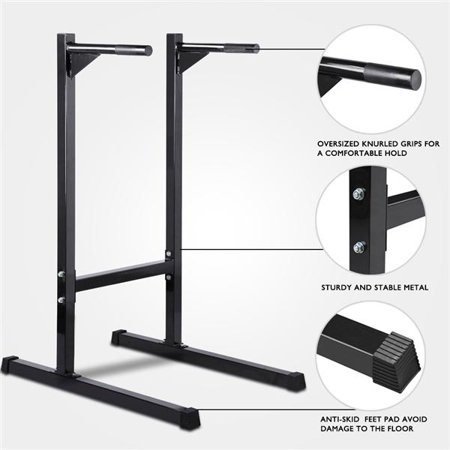 Topeakmart Duty Dip Stand Parallel Bar Home Gym Exercise Machine. (Parallel Bar System)