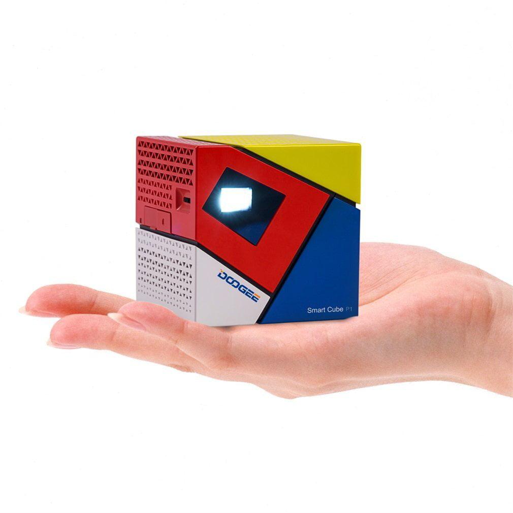 Mini Cube Smart Projector, LESHP Wifi 2.4-in Portable DLP...