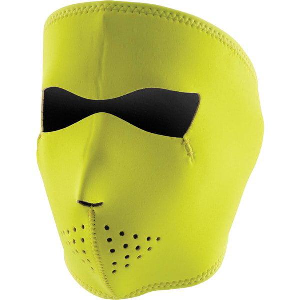 ZANheadgear Neoprene Face Mask (High Visibility Lime, One Size) by Zan Headgear