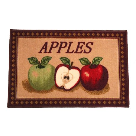 Kashi Home Rectangle Mat with Latex Back Mixed Apple Series Kitchen Rug, 20