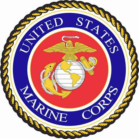 """5"""" x 5"""" United States Marine Corps Vinyl Bumper Stickers Decals Window Sticker Decal"""