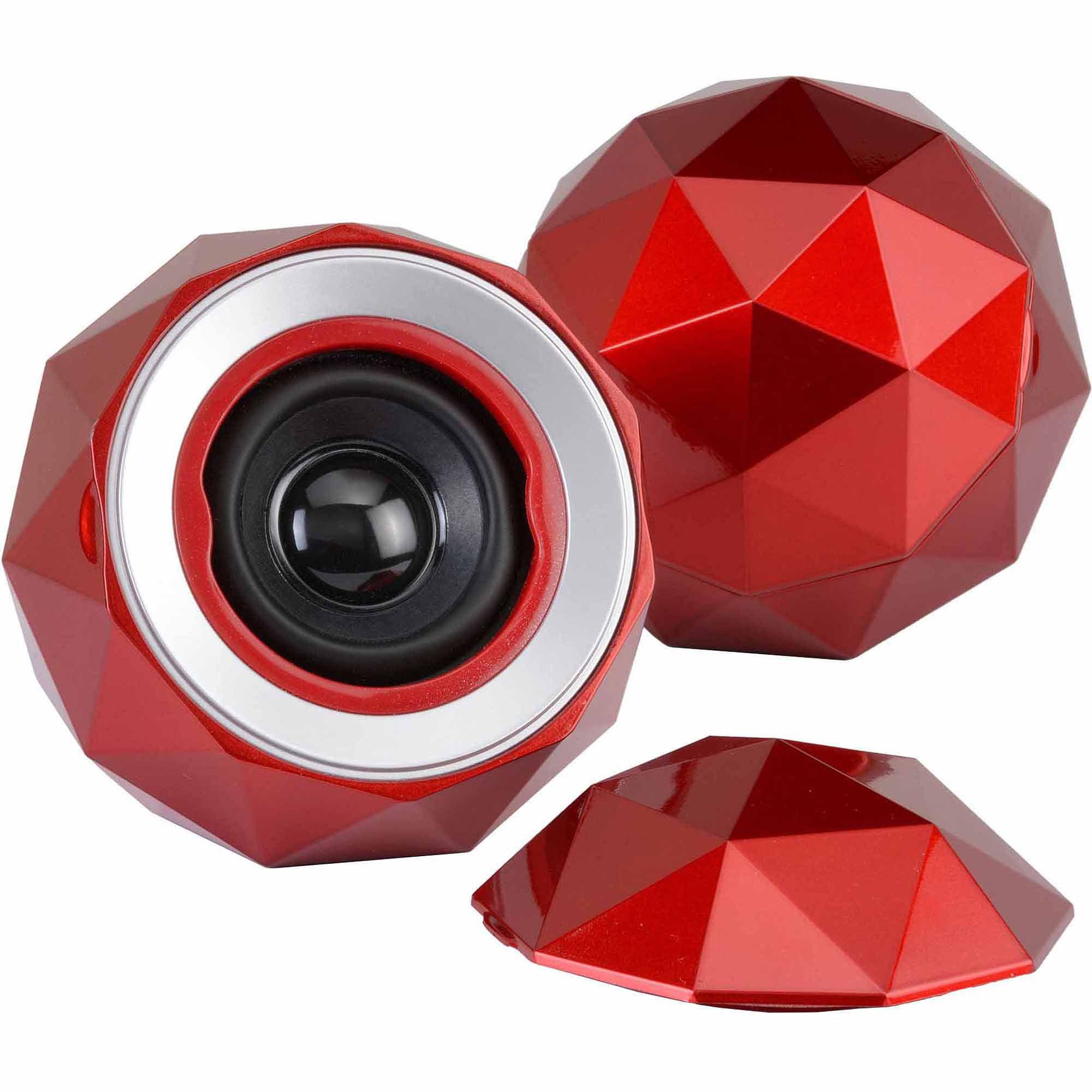 Digital Treasures PowerBall X2 Speakers, Red
