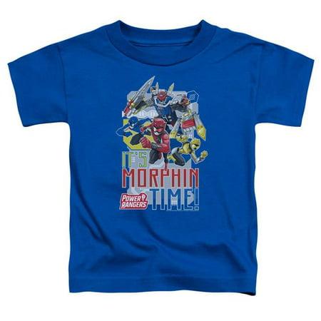 Trevco Sportswear PWR2400-TT-3 Power Rangers & Morphin Time Print Toddler Short Sleeve T-Shirt, Royal Blue - Large 4T - image 1 of 1