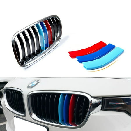 iJDMTOY Exact Fit ///M-Colored Grille Insert Trims For BMW F30 3 Series 320i 328d 328i 335i and F32 4 Series 428i 435i w/ Standard Kidney Grill (11 Beams), NOT for the 8-Beam Black Grille
