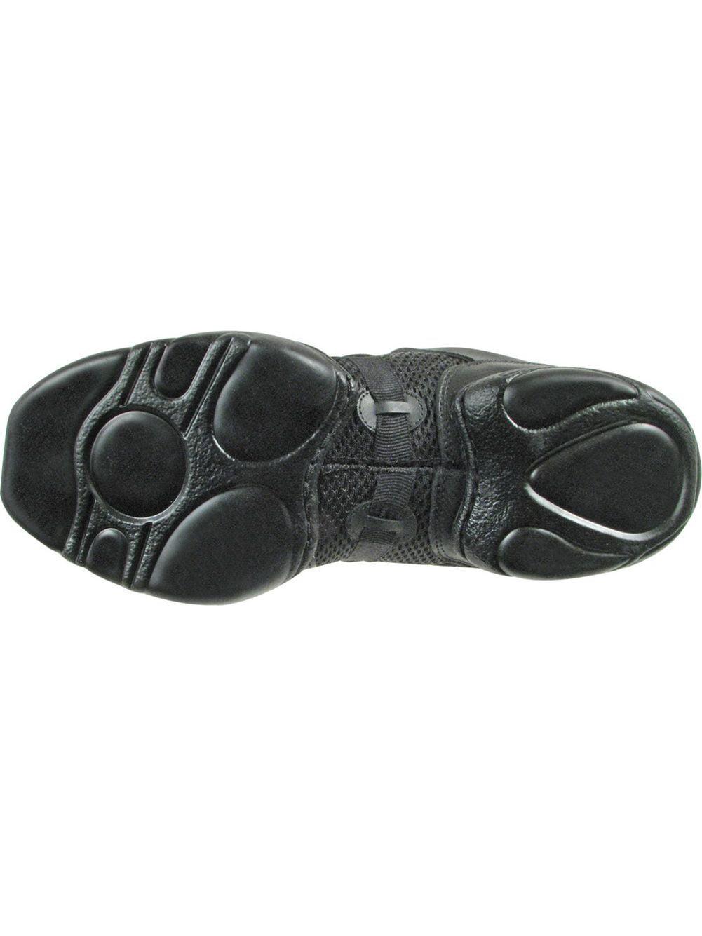 Black Leather Mesh Upper Split Rubber Sole Dance Jazz Sneakers 412 Womens