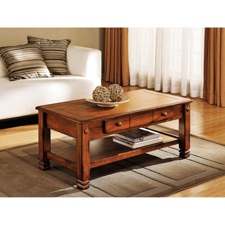 Summit Mountain Coffee Table, Rustic Oak