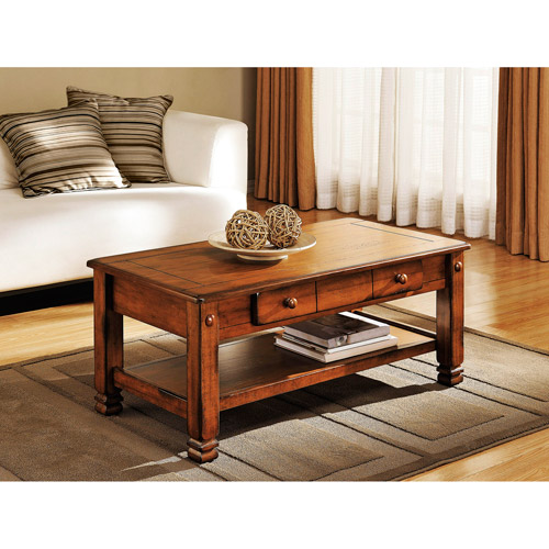 Walmart Coffee Tables: Summit Mountain Coffee Table, Rustic Oak