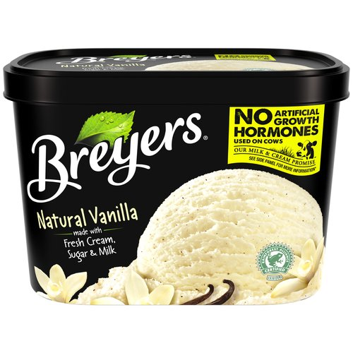 Breyers Natural Vanilla All Natural, 1.5 qt