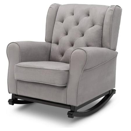 Delta Children Emma Nursery Baby Rocking Chair, Dovey Gray