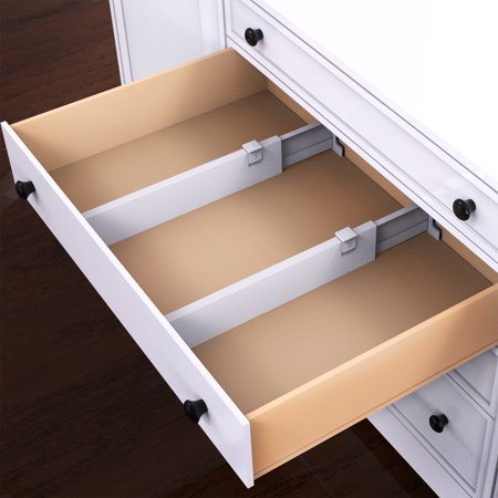 Adjustable Drawer Organizer (Expandable Drawer Divider and Organizer - Set of 2 Adjustable Household Separators for Kitchen, Dresser, Bedroom, Bathroom and More by Lavish Home )