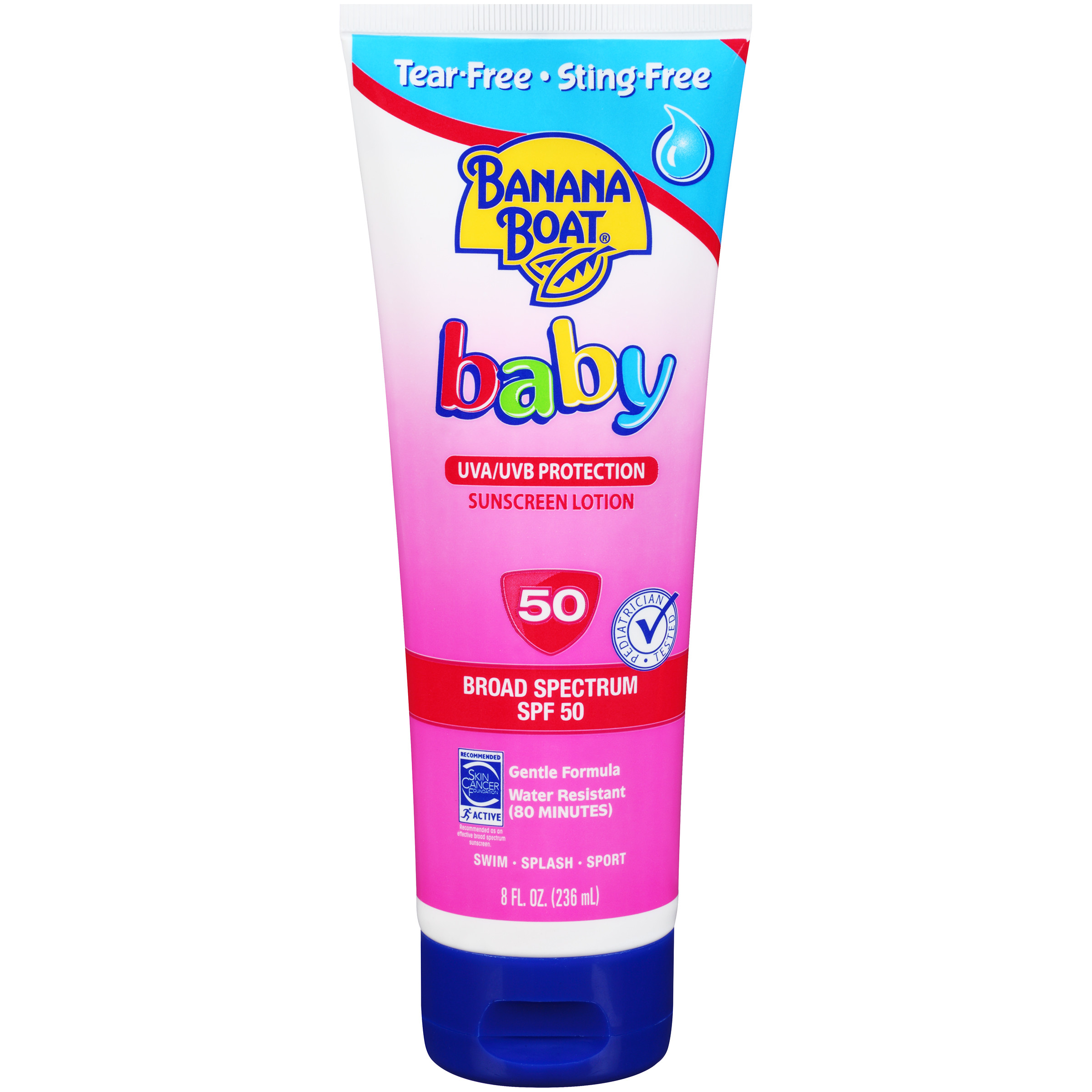Banana Boat Baby Tear-Free Sting-Free Lotion Sunscreen Broad Spectrum SPF 50 - 8 Ounces