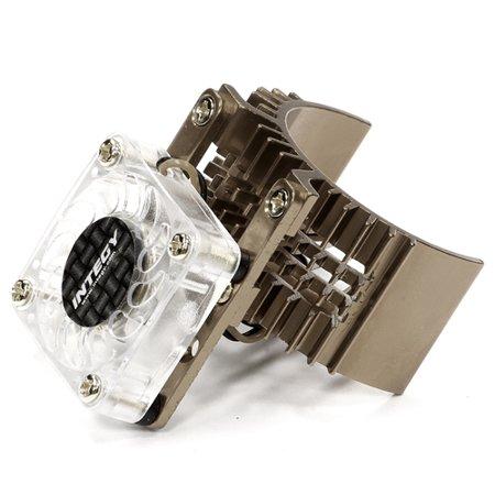 Integy RC Toy Model Hop-ups T8074GUN Motor Heatsink 540 Size w/ Cooling Fan for Slash, Stampede 2WD, Rustler & Bandit