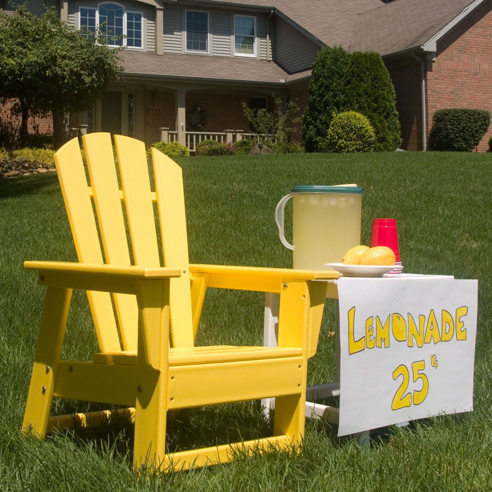 POLYWOOD® South Beach Recycled Plastic Kids Adirondack Chair ...