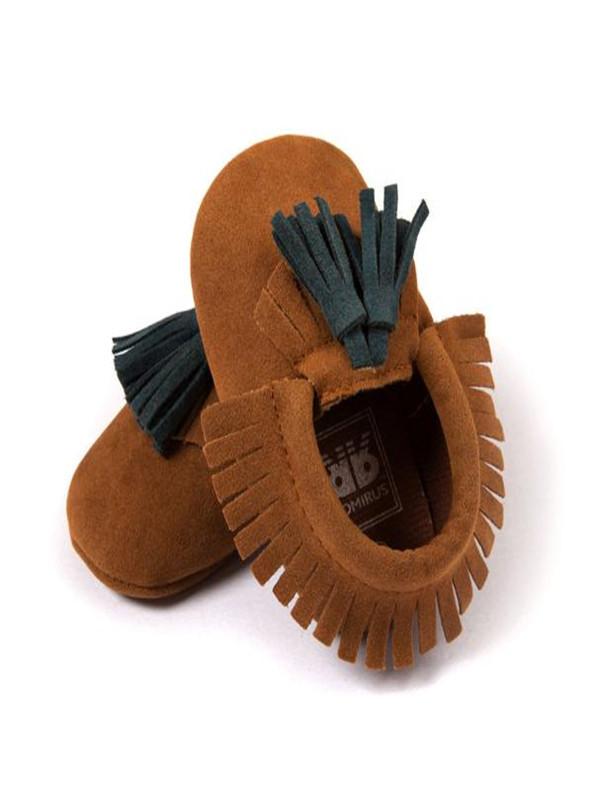 Toddler Baby Kids Tassel Soft Sole Prewalker Shoes Infant Boy Girl Shoes