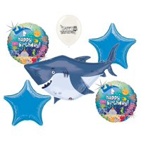 Ocean Buddies Great White Shark Birthday Party Decorations Balloon Bouquet