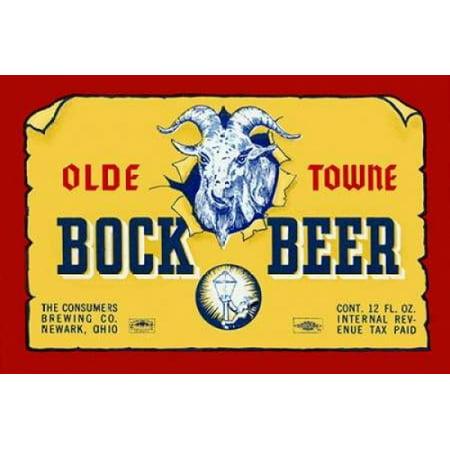 Olde Towne Bock Beer Poster Print by Vintage Booze Labels