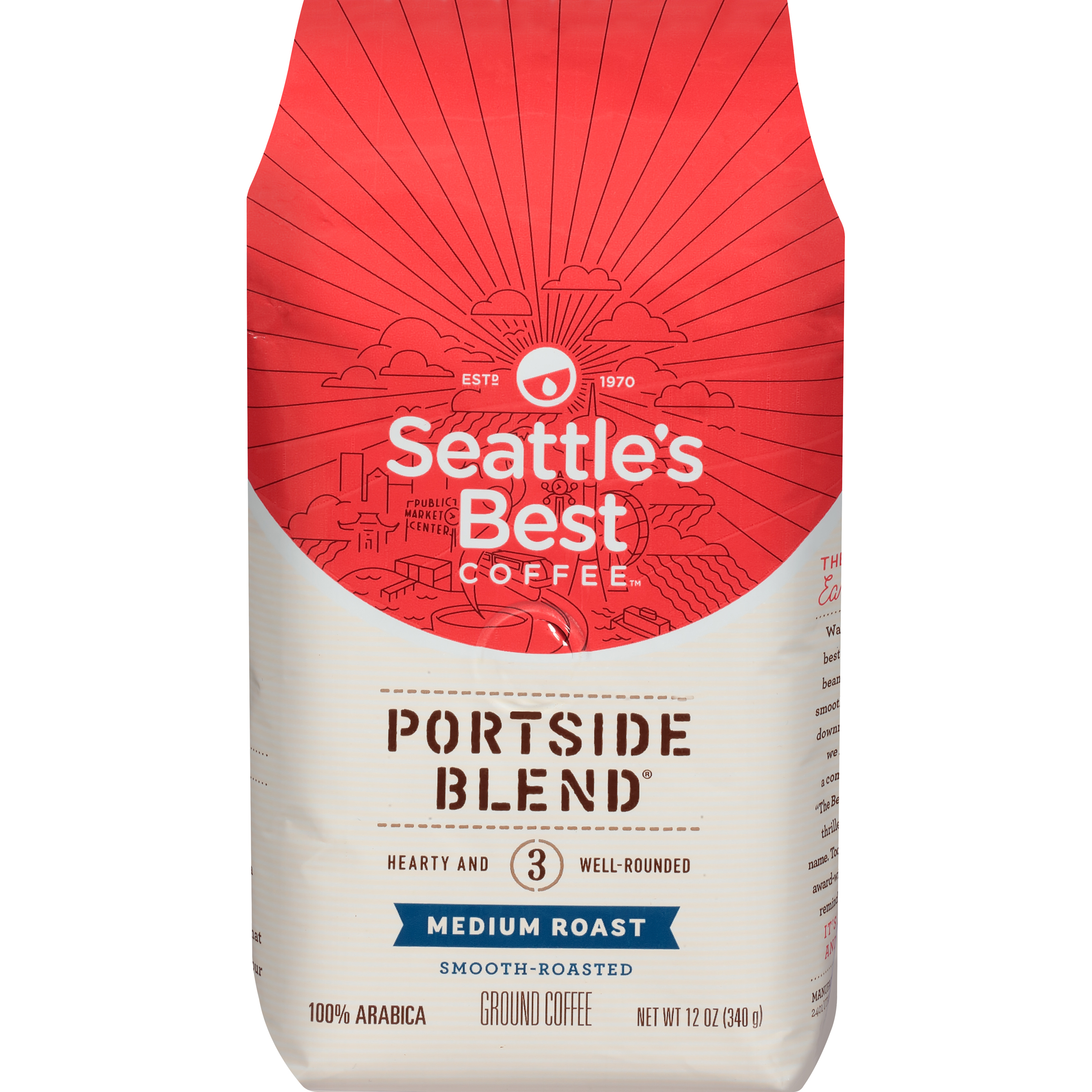 Seattle's Best Coffee™ Portside Blend™ Medium Roast Ground Coffee 12 oz. Bag