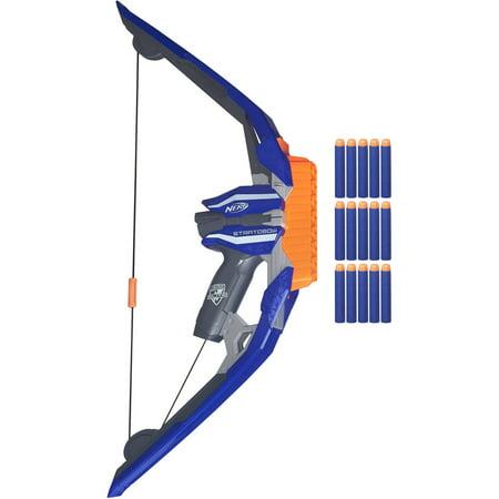 - Nerf N-Strike StratoBow Dart-Firing Bow with 15 Elite Darts