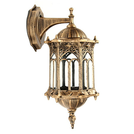 Aimeeli E27 Antique Wall Light Lamp Lantern Sconce Porch Lighting Exterior Fixture (Antique Brass Crystal Wall Sconce)