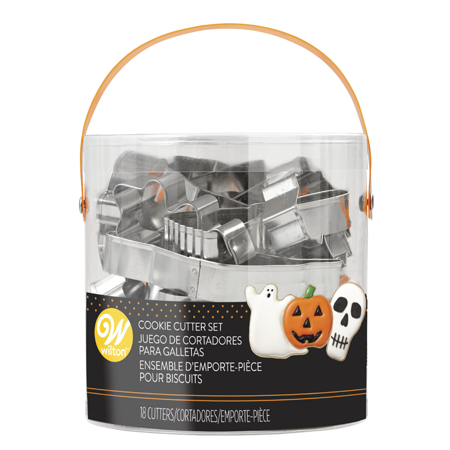 Wilton Halloween Cookie Cutter Set, (Happy Halloween Cookie)