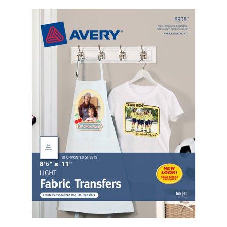 Avery T Shirt Transfers 8 12 X 11 18 Transfers 8938