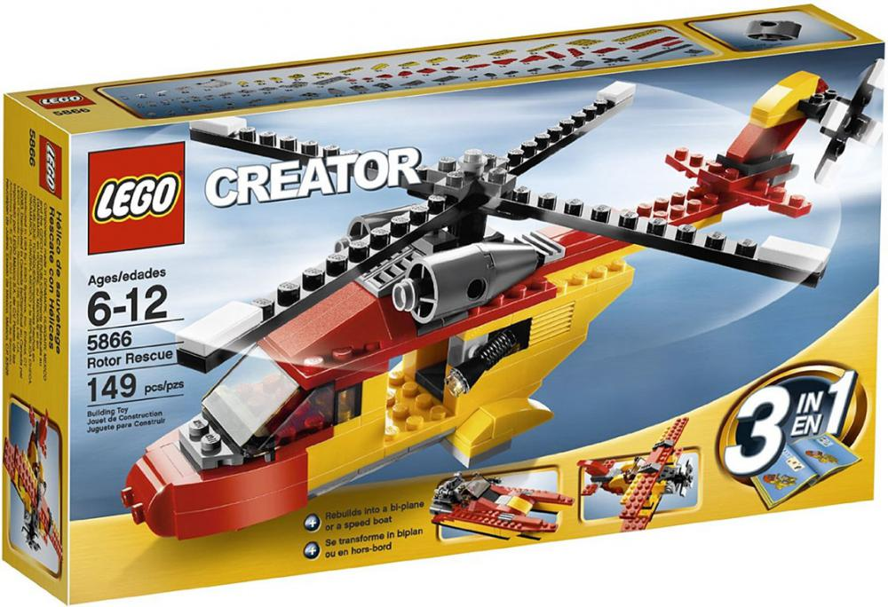 Lego Creator Rotor Rescue 3 In 1 Helicopterbiplanespeedboat 149