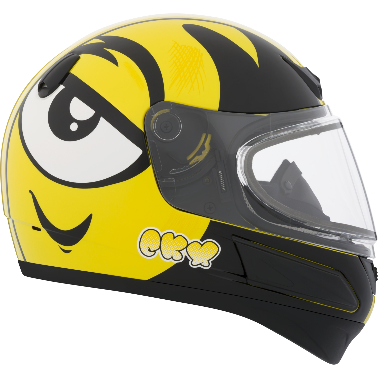 CKX Ink VGK1 Full-Face Helmet, Winter - Youth Double Shield