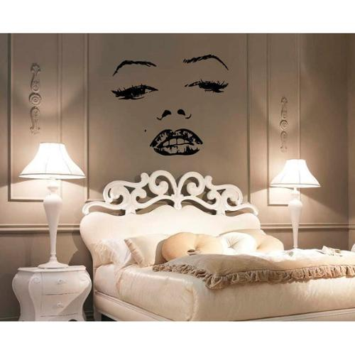 Stickalz llc Marilyn Monroe Face Vinyl Sticker Wall Art
