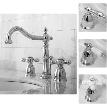 Kingston Brass Victorian Chrome Widespread Bathroom Faucet Solid Brass Turtle Faucet