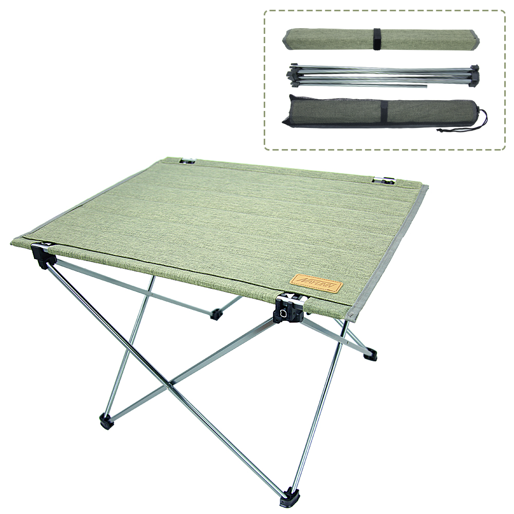 Camp Fishing A plus life Portable Outdoor Folding Table Easy to Clean. Boat Beach Lightweight Aluminum Desk with Carrying Bag for Picnic