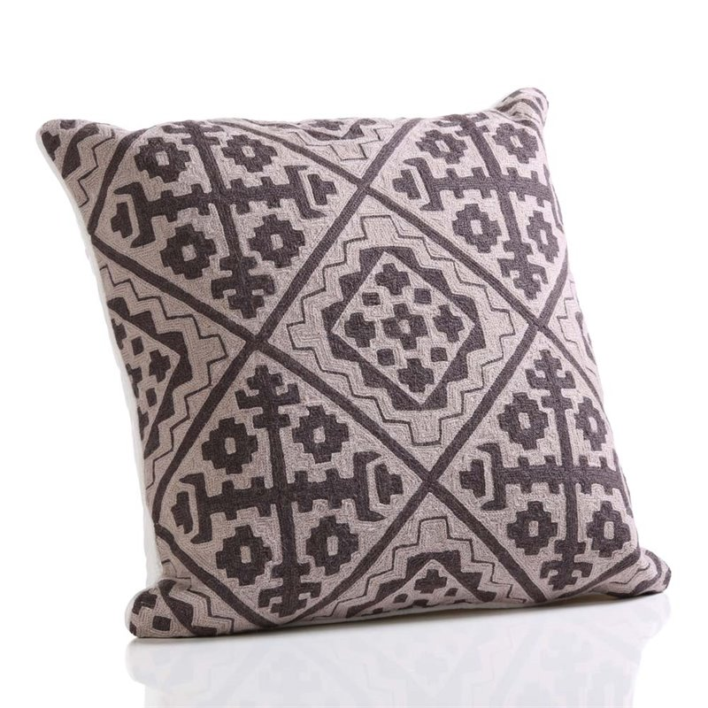 Zodax Hopi Hand Embroidered Cotton Throw Pillow