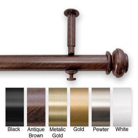 SOURCE GLOBAL ENT. INC. Bold Pole 48 to 86-inch Adjustable Curtain Rod Set - 86 Metallic Gold Metallic Finish Bold Pole Rod